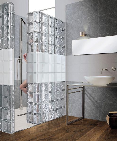 Paves briques de verres neutre transparente brique de for Pave verre salle de bain