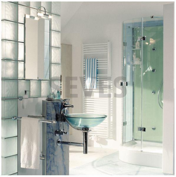 Paves briques de verres neutre transparente brique de - Pave de verre salle de bain ...
