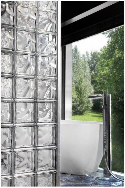 Paves briques de verres neutre transparente brique de for Pave de verre exterieur