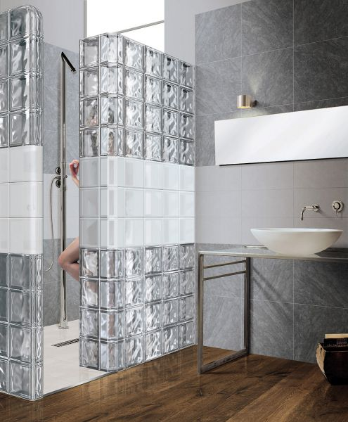 paves, briques de verres neutre / transparente - brique de verre ... - Mur De Verre Salle De Bain