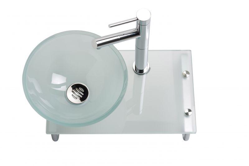 meubles lave mains robinetteries lave mains lave mains en verre avec vasque poser sur. Black Bedroom Furniture Sets. Home Design Ideas