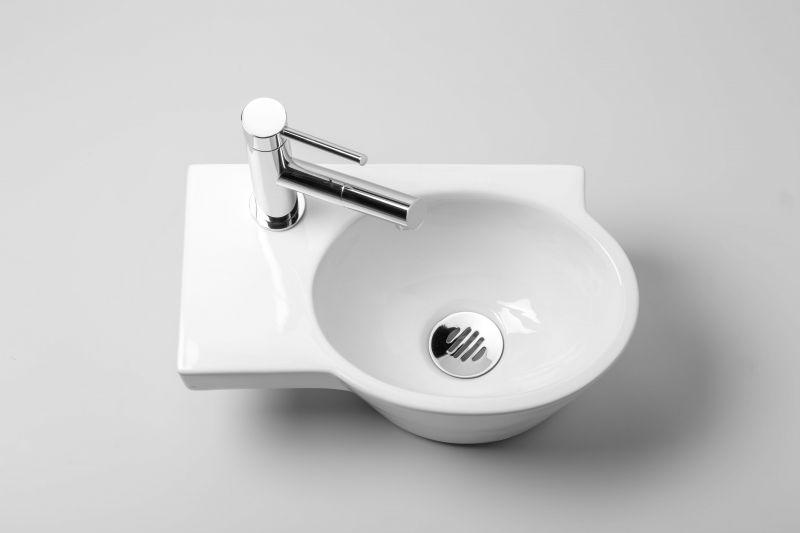 meubles lave mains robinetteries lave mains lave mains asym trique ovale profondeur 22 5 cm. Black Bedroom Furniture Sets. Home Design Ideas