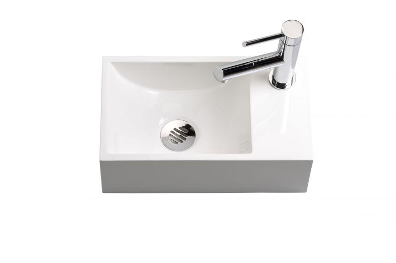 lave mains wc en r sine profondeur 20 cm robinetterie droite recto 35 benesan. Black Bedroom Furniture Sets. Home Design Ideas