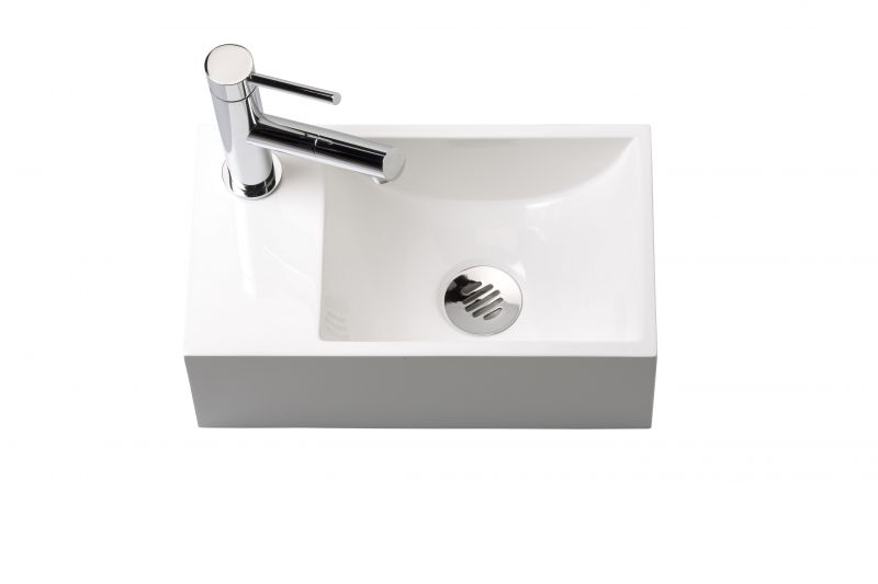 lave mains wc en r sine profondeur 20 cm robinetterie gauche recto 35 b benesan. Black Bedroom Furniture Sets. Home Design Ideas