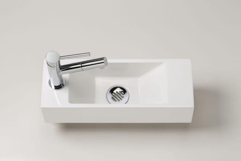 Lave mains tr s fin, 15 cm de largeur, design  pur