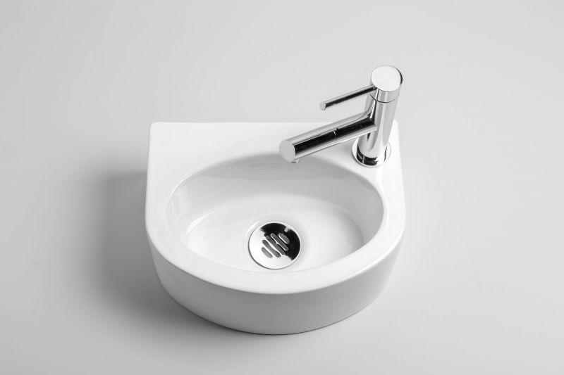 meubles lave mains robinetteries lave mains lave mains c ramique arrondi en demi cercle. Black Bedroom Furniture Sets. Home Design Ideas