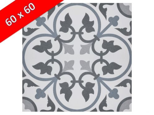 Colette 60x60 carrelage de sol aspect carreaux de ciment Carrelage aspect carreaux de ciment