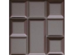 Tetrix Chocolate Mate 15x15 - Carrelage mural en relief 3D