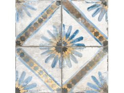 FS MARRAKECH BLUE 45x45 - Carrelage de sol aspect carreaux de ciment.