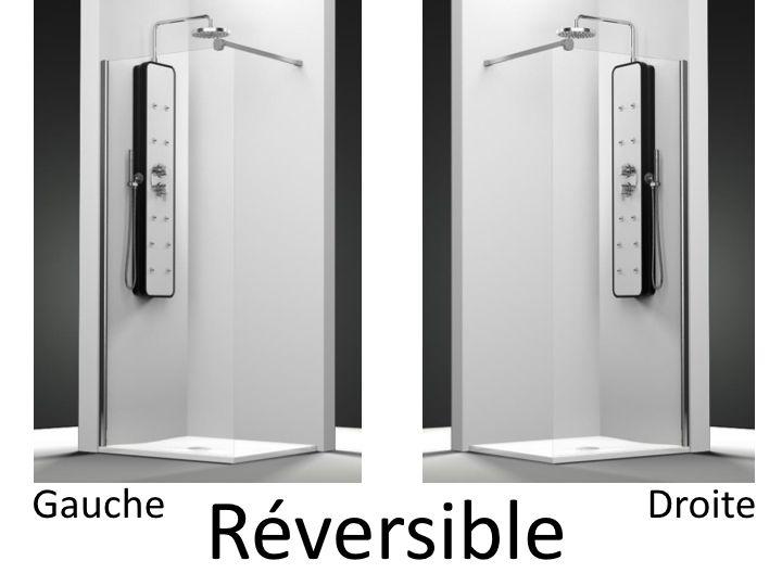 parois de douche largeur 100 paroi de douche fixe 100 cm hauteur de 180 220 cm ov2000. Black Bedroom Furniture Sets. Home Design Ideas