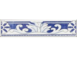 Calberote Aral 7x28 cm - faïence mural au style oriental, mauresque, ou zellige