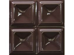 Cubos Chocolate Brillo 20x20 - Carrelage mural en relief 3D