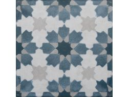 Vintage Decor 02 azul 20x20 - Carrelage, aspect carreaux de ciment Vintage Decus