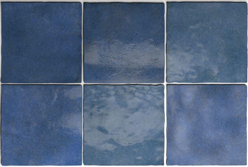 ARTISAN COLONIAL BLUE 13 x 13 cm - carrelage faïence, au style ...