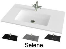 plan vasque sur mesure pour salle de bain 140 cm vasques en r sine sur mesure 35x 140 48x 140. Black Bedroom Furniture Sets. Home Design Ideas