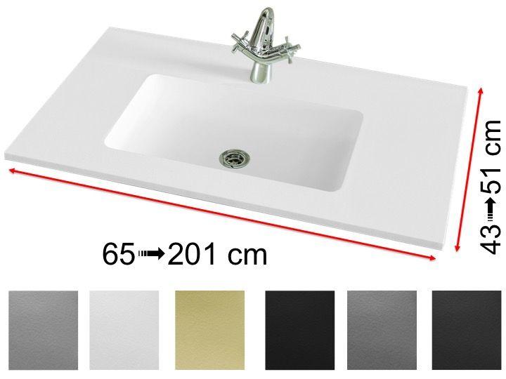 Vasques Largeur 160 Plan Vasque Lavabo 160 X 50 Cm Suspendue Ou à