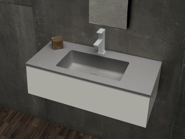 Vasque de salle de bains de très petite taille, 36 x 81 cm - Mini 35 ...