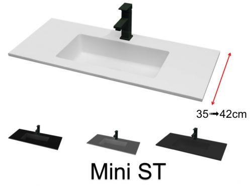 Vasque de salle de bains de très petite taille, 35 x 110 cm - Mini ...