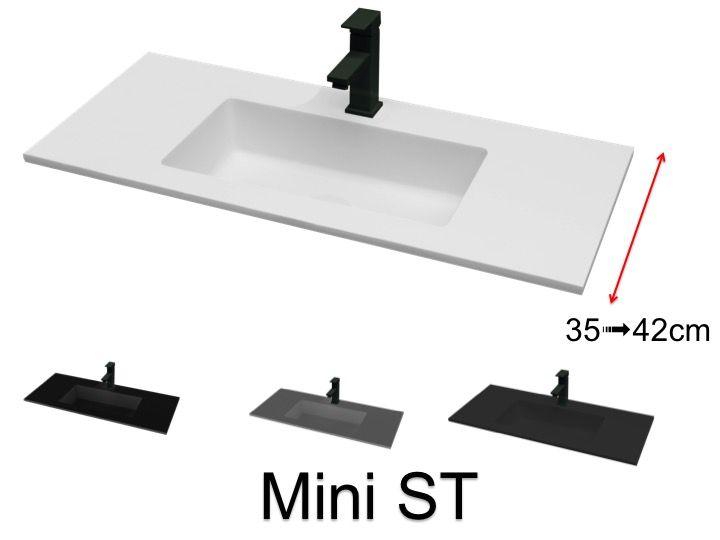 Vasque de salle de bains de très petite taille, 41 x 101 cm ...