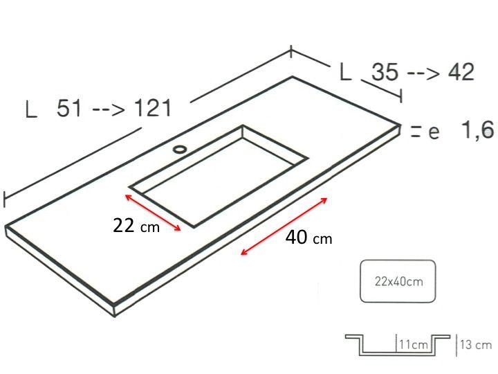 Vasque De Salle De Bains De Tr S Petite Taille, 35 X 120 Cm