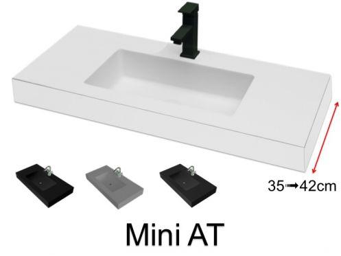 Vasque de salle de bains de tr s petite taille 35 x 100 cm mini 35 at - Vasque salle de bain 100 cm ...