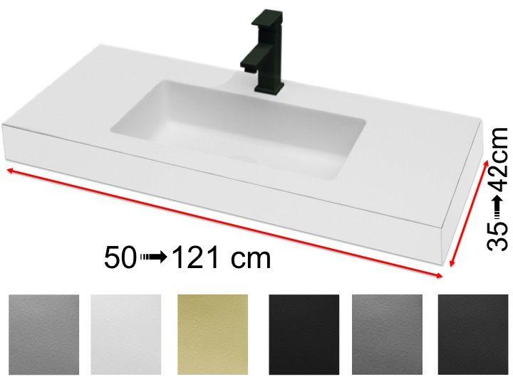 Vasque de salle de bains de très petite taille, 35 x 100 cm ...