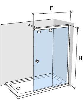 Parois de douche largeur 100 paroi de douche coulissante 100 cm fixation - Douche italienne dimension standard ...