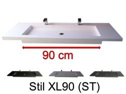Vasques Sur Mesure 100 Cm Vasques En Résine Sur Mesure 35x 100