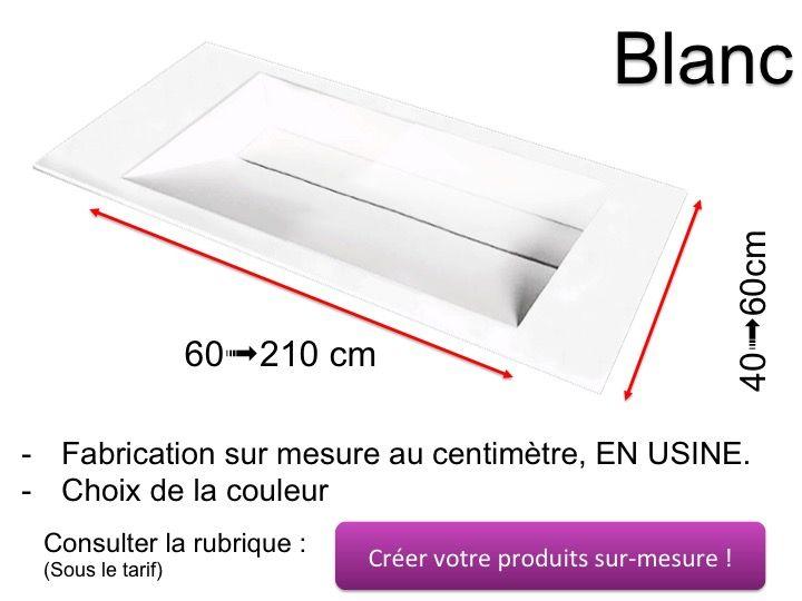 double plan vasque caniveau 50 x 100 cm lavabo suspendue. Black Bedroom Furniture Sets. Home Design Ideas