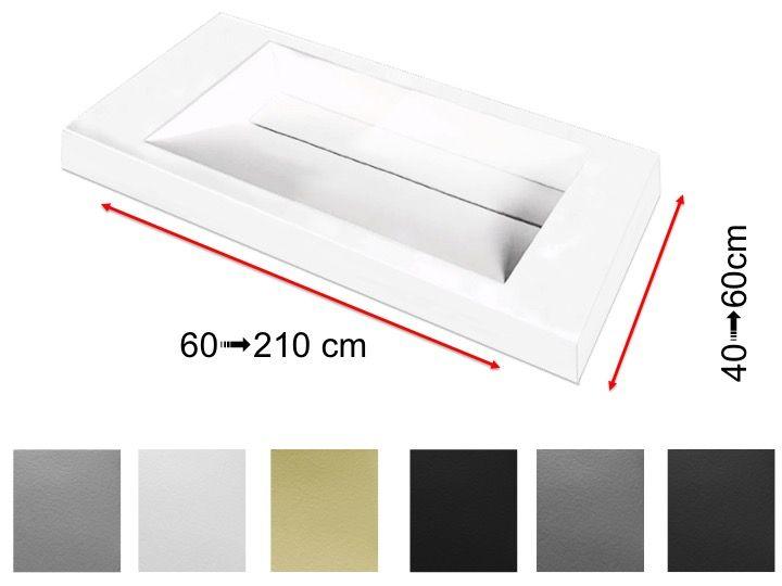 double plan vasque caniveau 50 x 140 cm lavabo suspendue. Black Bedroom Furniture Sets. Home Design Ideas