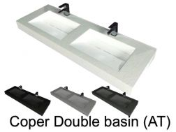 Double vasque caniveau lavoir, 50 x 180, en r�sine - Coper double basin AT