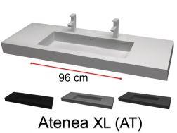 plan vasque sur mesure pour salle de bain 160 cm vasques en r sine sur mesure 35x 160 48x 160. Black Bedroom Furniture Sets. Home Design Ideas