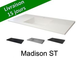 Plan de toilette avec vasque int�gr�e, 50 x 170 cm - Madison ST