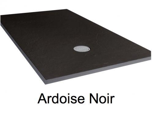 receveurs de douches longueur 125 receveur de douche 125 cm en r sine extra plat effet. Black Bedroom Furniture Sets. Home Design Ideas