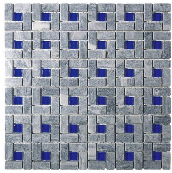 Salle de bain mosaique bleu salle de bain marbre bleu for Carrelage mosaique bleu turquoise