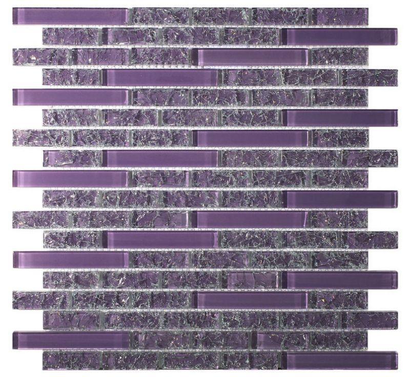Paves briques de verres mosa ques et galets cra002 for Carrelage salle de bain violet