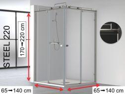 paroi de douche largeur 70 cm 70x180 70x185 70x190 70x195 70x200 70x205 70x210 70x215. Black Bedroom Furniture Sets. Home Design Ideas
