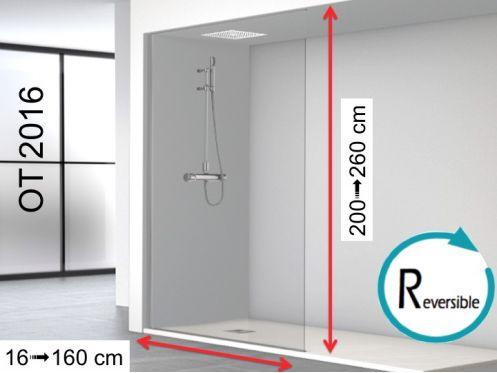 paroi de douche longueur 140 paroi de douche 140 x 250 cm un panneau fixe sur toute la. Black Bedroom Furniture Sets. Home Design Ideas