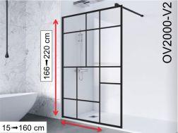 paroi de douche largeur 100 cm 100x180 100x185 100x190 100x195 100x200 100x205 100x210. Black Bedroom Furniture Sets. Home Design Ideas