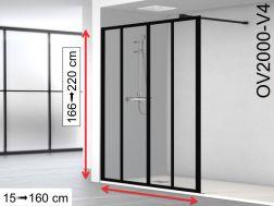 paroi de douche largeur 150 cm 150x180 150x185 150x190 150x195 150x200 150x205 150x210. Black Bedroom Furniture Sets. Home Design Ideas