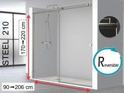 Paroi de douche largeur 110 cm 110x180 110x185 110x190 Porte de douche 110 cm