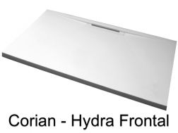 Receveur de douche type Corian Solid Surface, caniveau frontal - Hydra Frontal