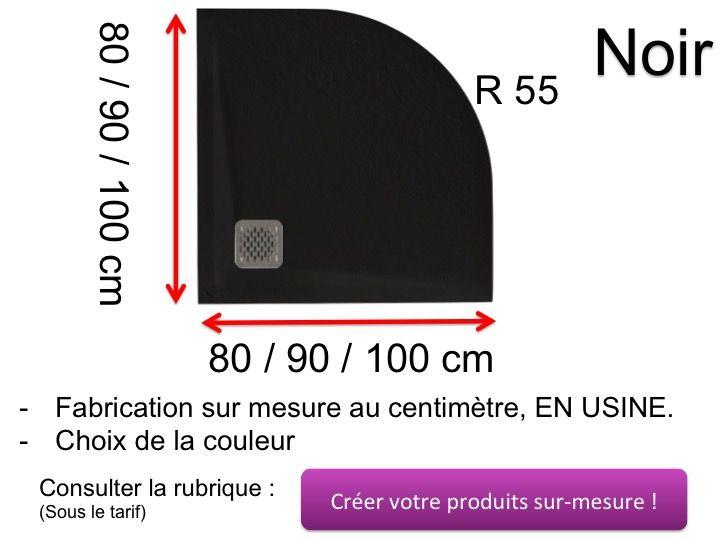 Quart De Rond Pvc 10x10 Noir