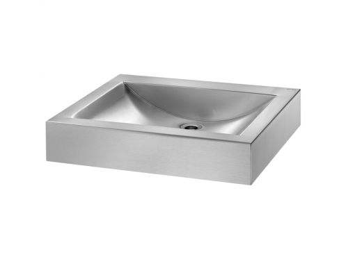 Vasque Inox 60 x 50, finition poli satin�, � poser - UNO