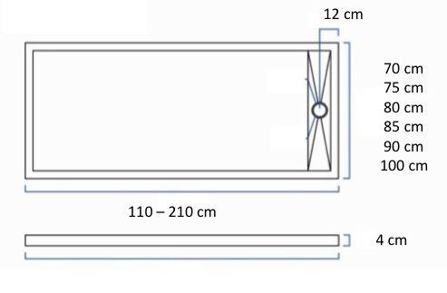 Receveur de douche 110 cm en r sine caniveau effet for Caniveau douche italienne extra plat
