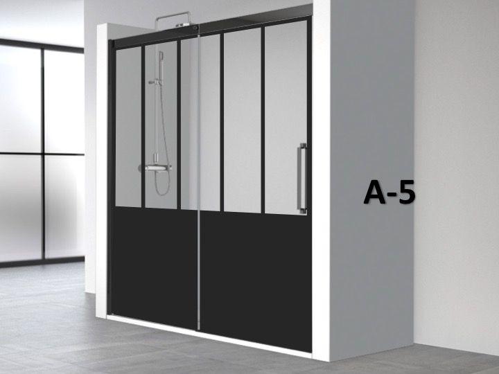 Porte de douche coulissante 110 x 195 cm au style Porte de douche 110 cm