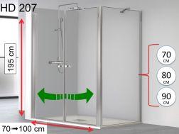 Paroi douche porte de douche 90 cm 90 x 180 90 x 185 - Porte de douche avec paroi fixe ...