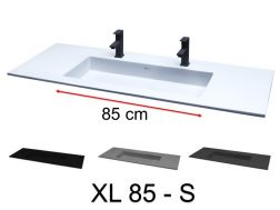 Double vasque, 101 x 46 cm, suspendu ou � encastrer - XL 85 S.