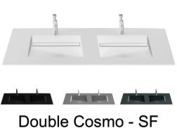 Plan double vasque, 121 x 46 cm , vasque caniveau - COSMO SF Double