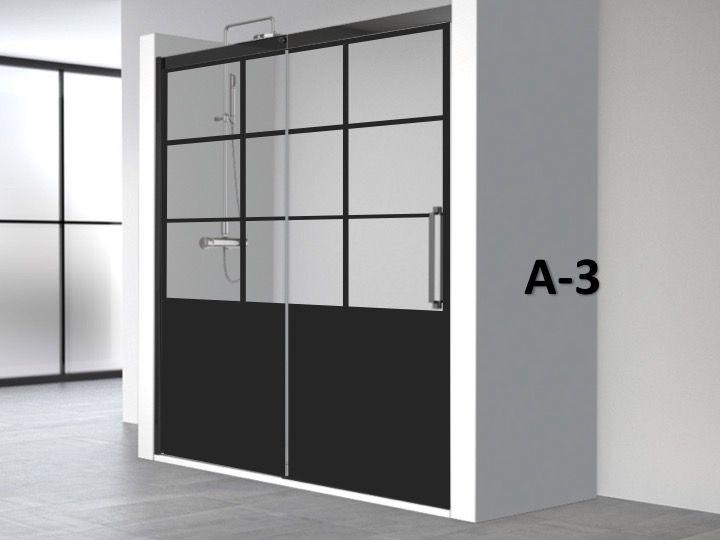 Porte De Douche Coulissante 120 X 195 Cm Au Style Industriel Art